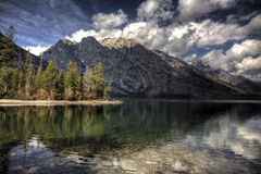 Lago jenny a grande Tetons Immagine Stock Libera da Diritti