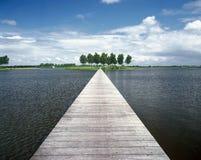 Lago jetty Fotografia Stock