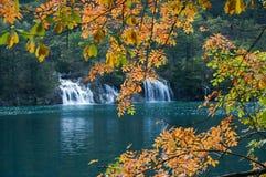 Lago in Jiuzhaigou, Sichuan, Cina fotografie stock libere da diritti