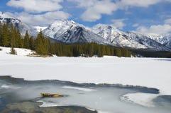 Lago Johnson congelado encima Fotografía de archivo