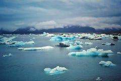 Lago Jokulsarlon in Islanda immagini stock libere da diritti