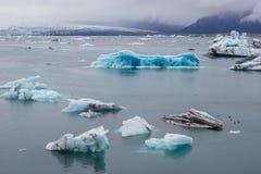 Lago Jokulsarlon in Islanda fotografia stock