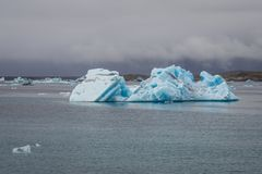 Lago Jokulsarlon in Islanda immagine stock