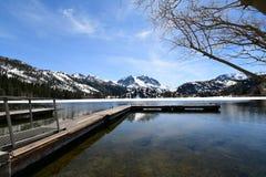 Lago june, parque nacional, California foto de archivo