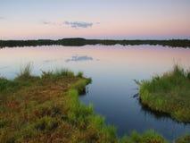 Lago Kakerdaja, alvorecer Imagem de Stock Royalty Free