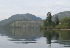 Lago Kalamalka imagem de stock