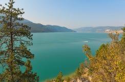Lago Kalamalka cerca de Vernon Fotografía de archivo