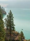 Lago Kalamalka vicino a Vernon Fotografie Stock Libere da Diritti