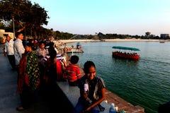 Lago Kankaria de Ahmadabad Foto de archivo libre de regalías