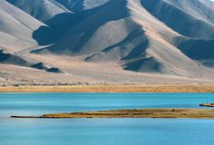 Lago kara-Kul Fotografia Stock Libera da Diritti