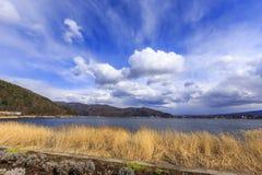 Lago Kawaguchi Immagini Stock Libere da Diritti