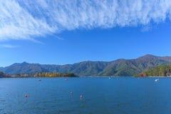 Lago Kawaguchi Fotografia Stock