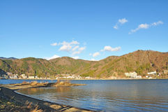 Lago Kawaguchiko Imagen de archivo libre de regalías