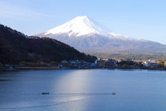 Lago Kawaguchiko Immagini Stock Libere da Diritti