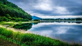 Lago Kawaguchiko foto de archivo libre de regalías