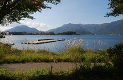 Lago Kawaguchiko Fotos de archivo