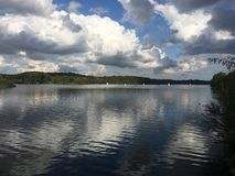 Lago Keller Kellersee in Malente Germania Fotografie Stock Libere da Diritti
