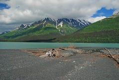 Lago Kenai en la península de Kenai imagen de archivo