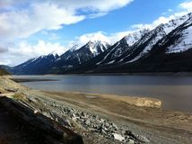 Lago Kinbasket Imagens de Stock