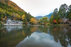 Lago Kinrinko in Yufuin, Kyushu, Giappone Immagine Stock