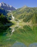 Lago Klapfsee e montanha Porze Foto de Stock Royalty Free