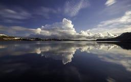 Lago Kleifarvatn alla penisola di Reykjanes in Islanda Fotografie Stock Libere da Diritti