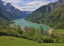 Lago Kloentalersee in primavera Fotografia Stock
