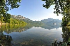 Lago/Kochelsee mountain Immagine Stock Libera da Diritti