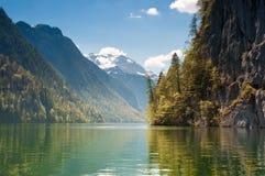 Lago Koenigssee, Germania Fotografia Stock Libera da Diritti