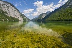 Lago Konigsee alemania Imágenes de archivo libres de regalías