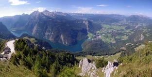 Lago Konigsee in alpi bavaresi Fotografia Stock Libera da Diritti