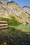 Lago Konigssee Fotografie Stock Libere da Diritti