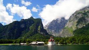 Lago Konigssee - Germania Fotografia Stock
