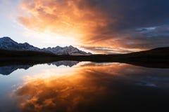 Lago Koruld mountain, Samegrelo-zemo Svaneti, Geórgia foto de stock royalty free