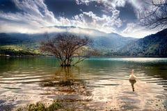Lago Kourna Imagem de Stock Royalty Free