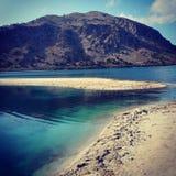 Lago Kournas, Creta Fotografia Stock Libera da Diritti