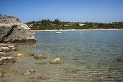 Lago Kournas, Creta en junio Fotografía de archivo libre de regalías