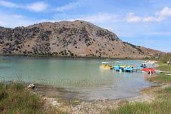 Lago Kournas en Creta Imagen de archivo