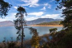 Lago Koycegiz, Mugla, Turchia Fotografie Stock Libere da Diritti
