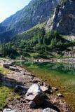 Lago Krn in Bohinj, Slovenia Fotografia Stock