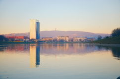 Lago Kuchajda en Bratislava Imagen de archivo libre de regalías