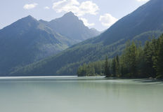Lago Kucherlinskoe, montanhas de Altai (#3) Imagens de Stock
