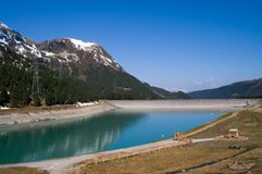 Lago Kuhtai, Áustria Foto de Stock