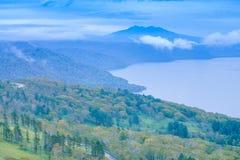 Lago Kussharo do bom dia Imagem de Stock Royalty Free