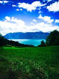 Lago Léman Immagine Stock Libera da Diritti