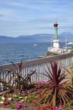 Lago Léman a Evian in Francia Fotografia Stock Libera da Diritti