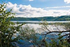 Lago Laach Fotografie Stock Libere da Diritti