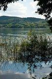 Lago Laach (Laacher vê) Fotografia de Stock
