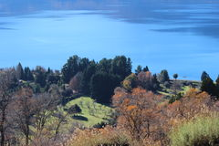 Lago Lacar Fotografie Stock