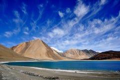 Lago Ladakh India Pangong Fotografia Stock Libera da Diritti